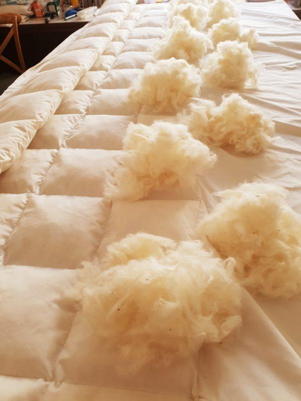 Handmade wool duvet inner from Karoo Creations